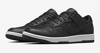 NikeLab Dunk Low Lux Black White
