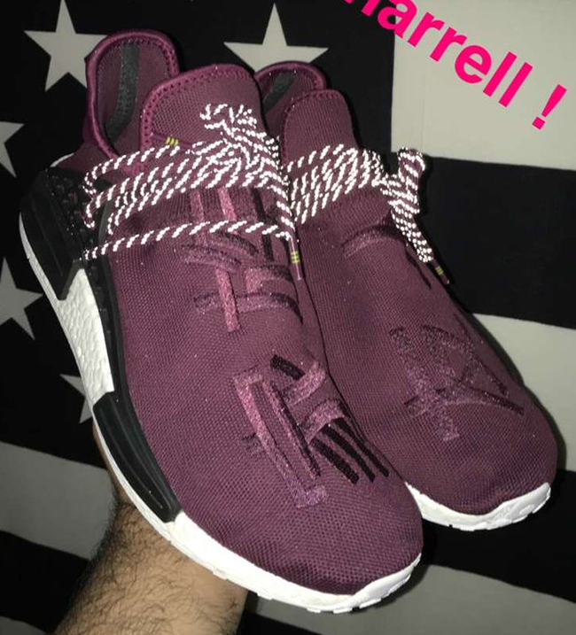 dec091eb7e4683 Pharrell adidas NMD Burgundy Friends Family