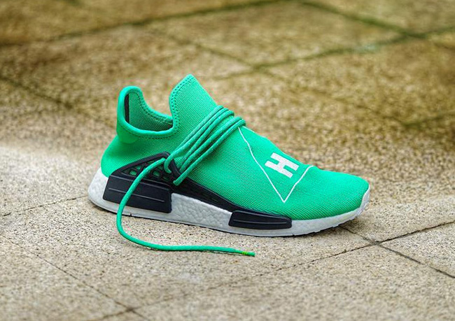 finest selection fd509 e26e2 Pharrell x adidas NMD Human Race Green | SneakerFiles