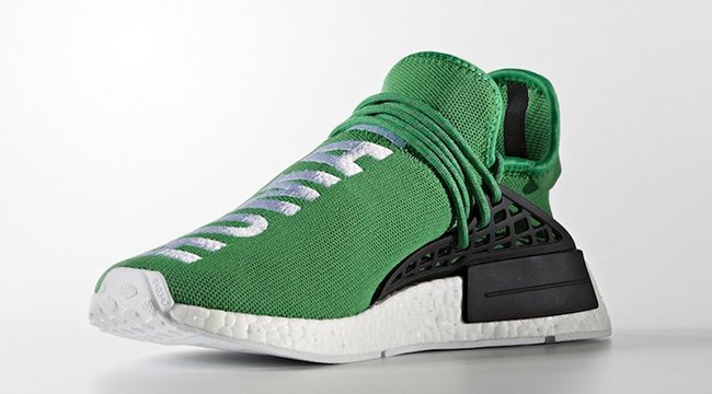 finest selection 694d7 59b53 Pharrell x adidas NMD Human Race Green | SneakerFiles