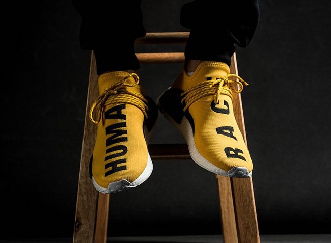 Pharrell adidas NMD Human Race Store Listings
