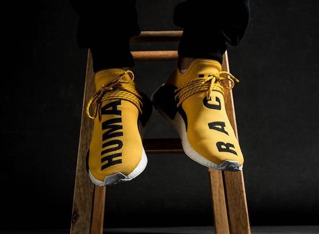 Pharrell adidas NMD Human Race Store Listings