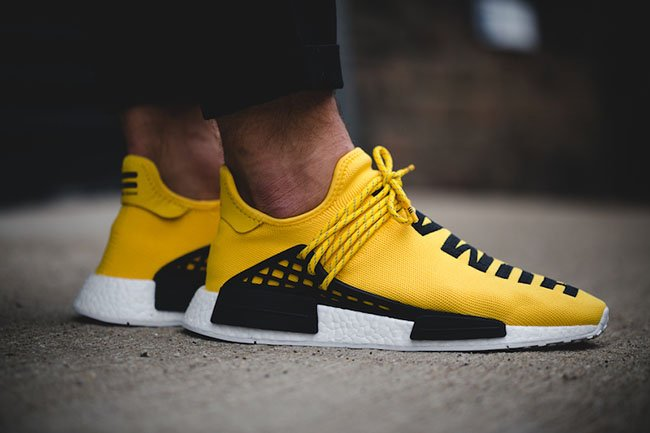 Adidas Mens Pharrell Williams X Human Race NMD Yellow
