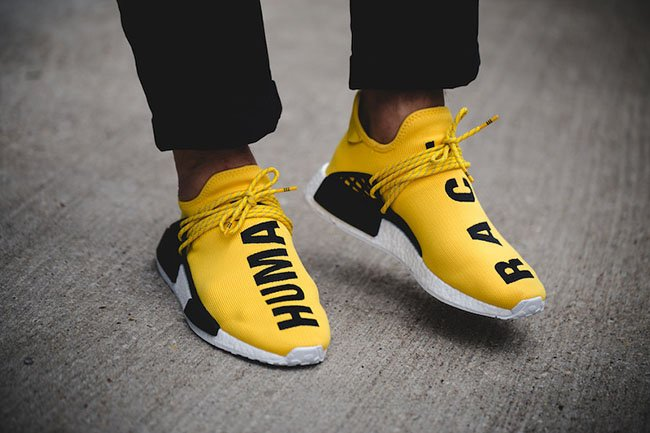 Adidas NMD Human Race Pharrell Yellow Size 8.5