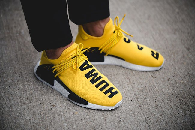 Adidas X Pharrell Yellow NMD Human Race BB0619 Size 8 NMD