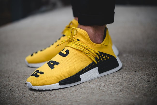 Sophia's UA NMD PW Human Race Black Yellow White NMD
