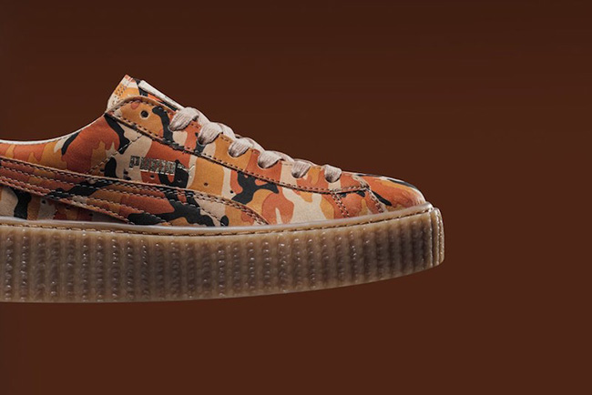 Rihanna Puma Creeper Camo Orange