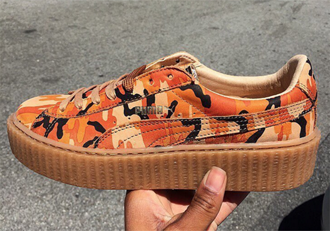 Pumas Fenty Creeper Camo D'orange dTQXSyy