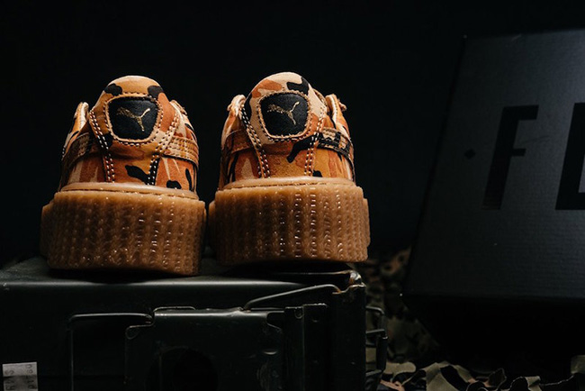 Rihanna Puma Fenty Creeper Camo Orange Release Date