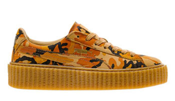 Rihanna Puma Suede Creeper Fenty Camo Orange