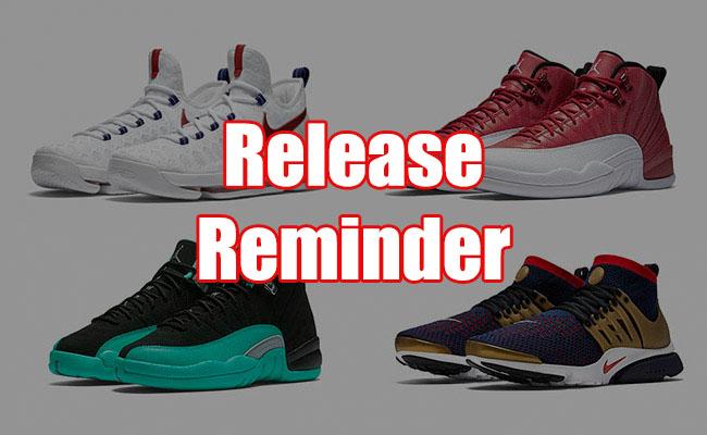 Sneakers Release July 1 2 2016