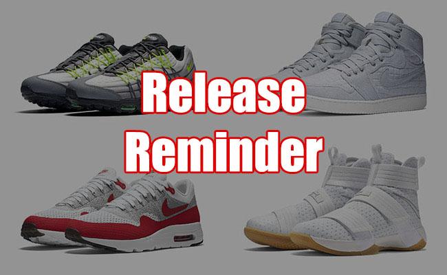 Sneakers Release July 28 30 2016