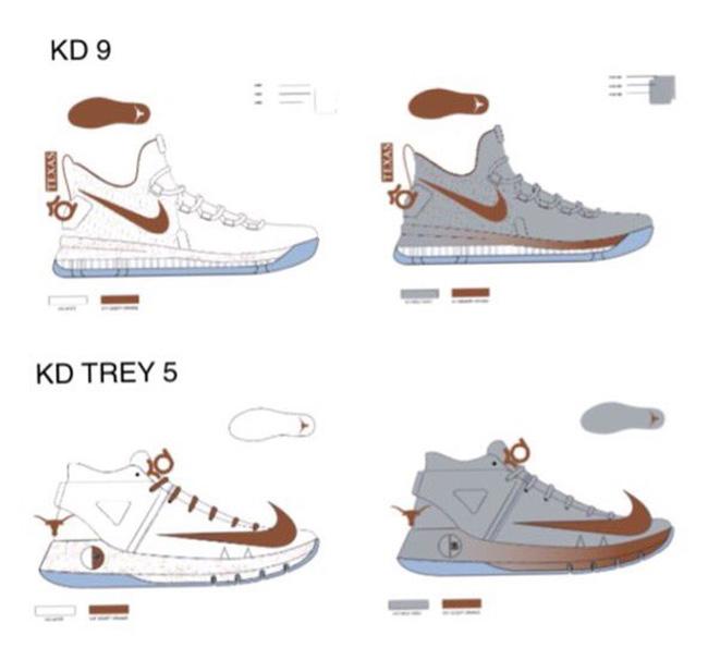 Nike KD 9 Texas Longhorns  bb2dc93de