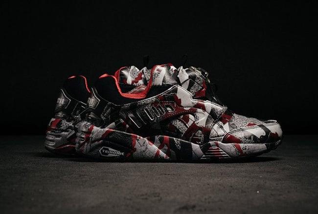 4eb600ce4a37d Trapstar x Puma Disc Blaze Camo Barb Cherry | SneakerFiles