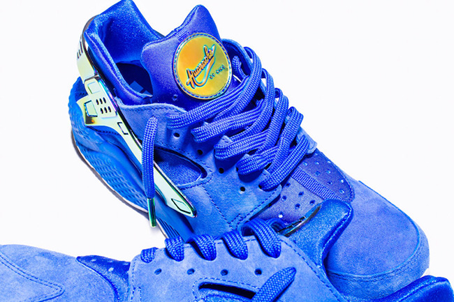 Undefeated Nike Air Huarache LA Blue Suede