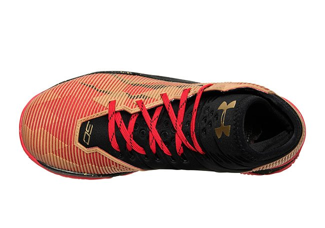 Under Armour Curry 2.5 49ers Red Black Gold