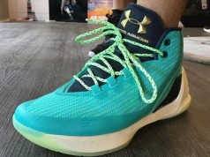 Under Armour Curry 3 Teal On Feet
