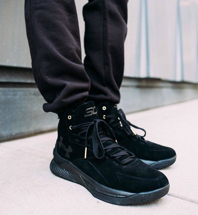 Under Armour Curry Lux Black Suede
