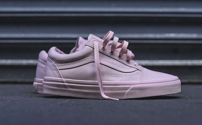 Vans Shoes Pink And White Old Skool