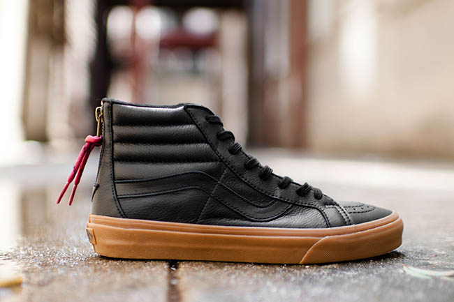 vans sk8 hi reissue leather zipper