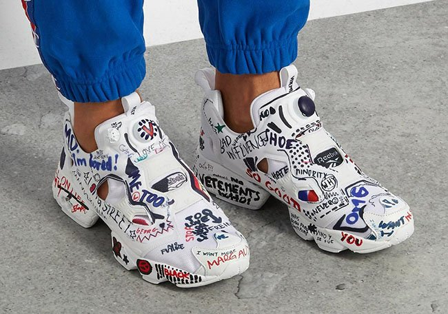 vetements reebok insta pump fury doodles 5 - The Best and Worst Sneakers of 2017