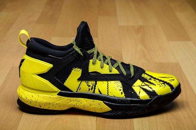 adidas D Lillard 2 Black Yellow