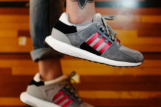 adidas EQT Support 93 16 Boost Grey Red | SneakerFiles