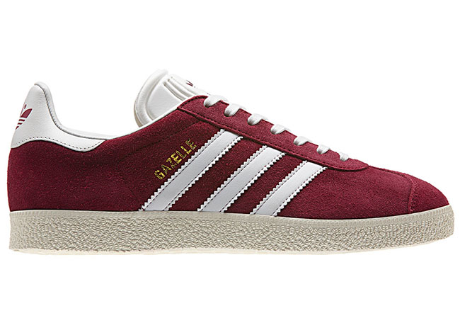 adidas gazelle dark red