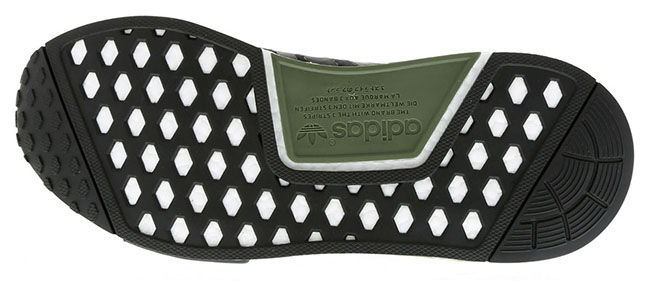 adidas NMD R1 Base Green Core Black White