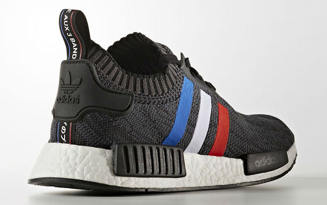 adidas nmd black red blue white