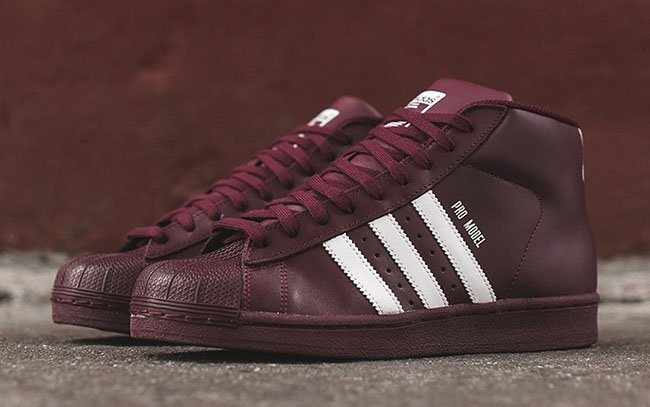 Adidas Pro Model Burgundy Sneakerfiles
