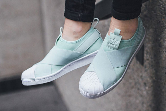 Adidas Superstar Slip On Ice Mint