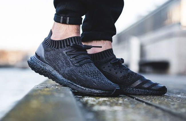 new product e91cb 5b92d On Feet Photos of the adidas Ultra Boost Uncaged Triple Black delicate