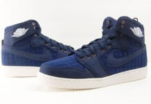 Air Jordan 1 KO High Blue Quilted Obsidian Review On Feet