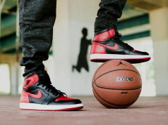 Air Jordan 1 Retro High OG Banned On Feet