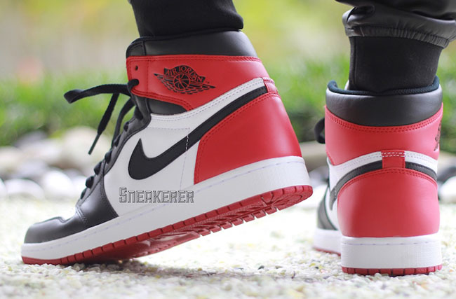 103d8bec3f907e Air Jordan 1 Retro OG Black Toe On Feet