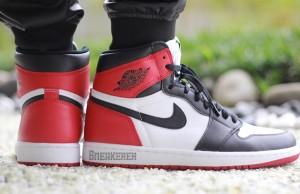 Air Jordan 1 Retro OG Black Toe On Feet