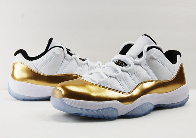 Air Jordan 11 Low Closing Ceremony Olympics White Gold Review