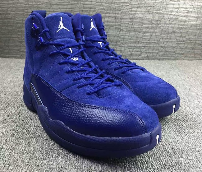 Air Jordan 12 Blue Suede 2016