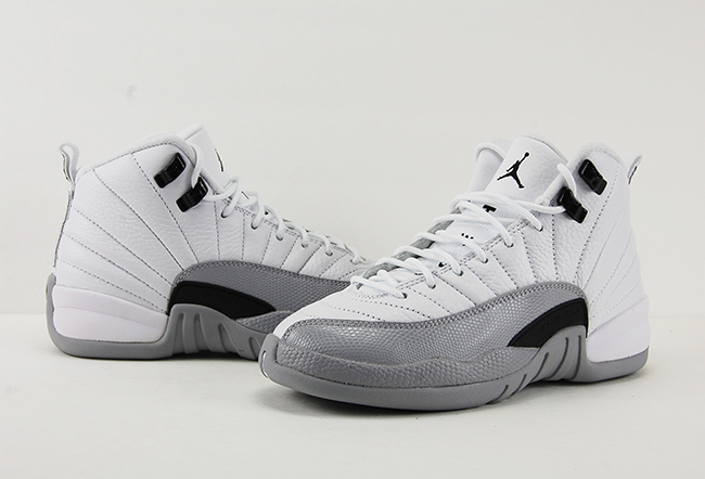 d0bc655cafa Air Jordan 12 GS Barons White Black Wolf Grey Review On Feet
