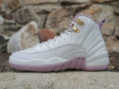 Air Jordan 12 GS Heiress Plum Fog Light Bone