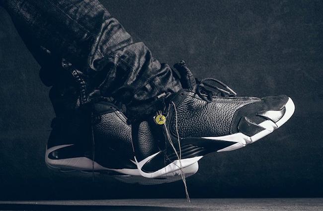 online retailer 708ce e34ab ... Foot Air Jordan 14 Indiglo Vivid Green Black ...