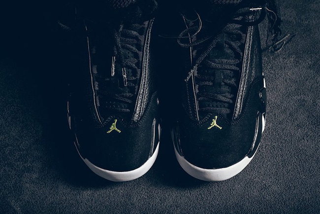 best loved afd48 7814f Air Jordan 14 Indiglo Vivid Green Black