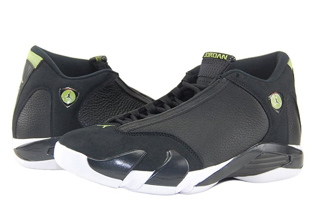 finest selection c0921 5c635 Air Jordan 14 XIV Indiglo Black Vivid Green Retro 2016 Review On Feet