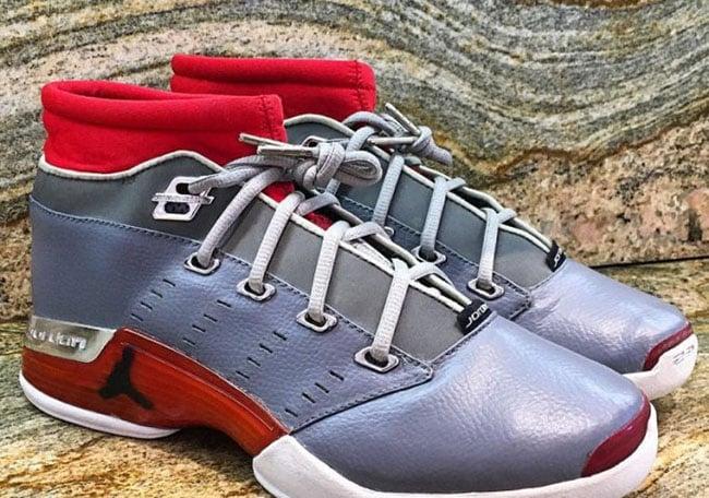Air Jordan 17 Low Sample Grey Red