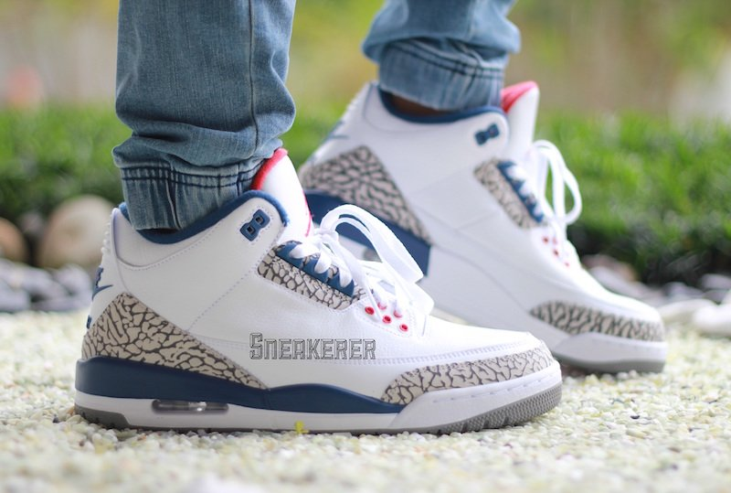 size 40 74cff 70c07 Air Jordan 3 OG True Blue On Feet
