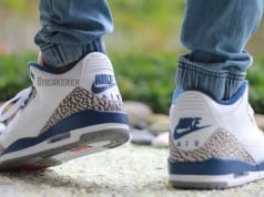 Air Jordan 3 OG True Blue On Feet