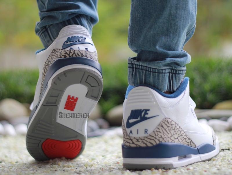 Air Jordan 3 OG True Blue On Feet