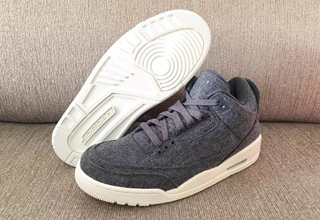 Air Jordan 3 Retro Wool Dark Grey