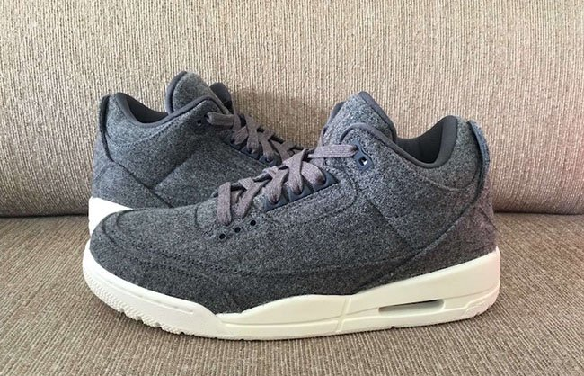 best loved afea4 b5237 Air Jordan 3 Retro Wool Dark Grey